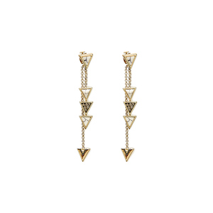 House of Harlow 1960 Triangle Trellis Drop Earrings in White