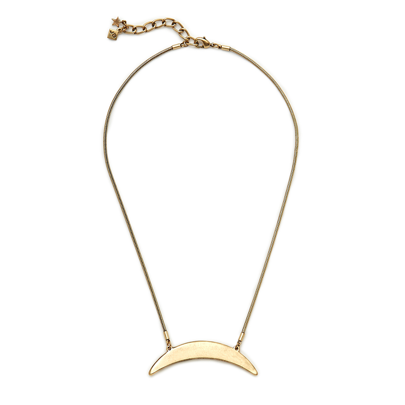 Jenny Bird Crescent Moon Necklace  in Gold