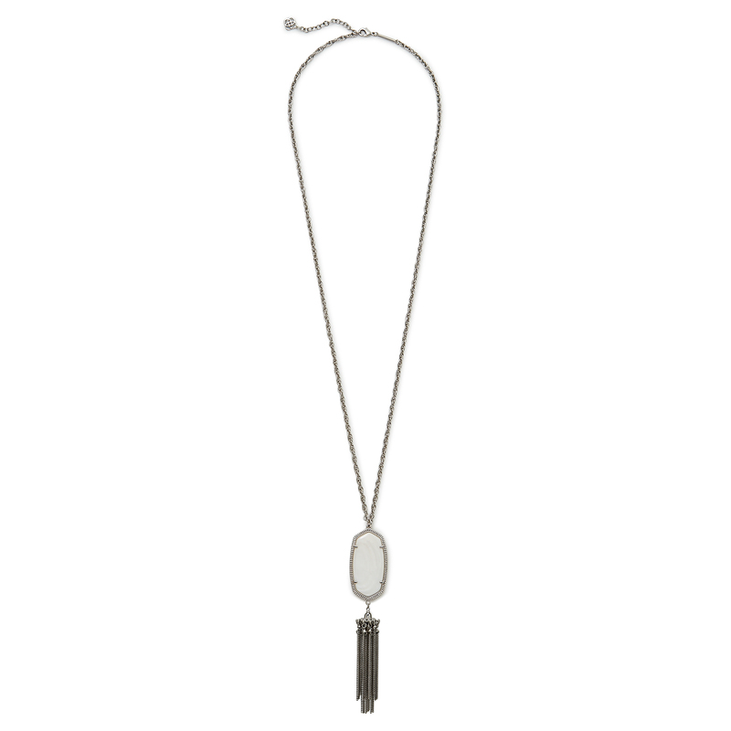 Kendra Scott Rayne Silver Necklace in White Pearl