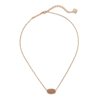 Kendra Scott Elisa Necklace in Rose Gold Drusy