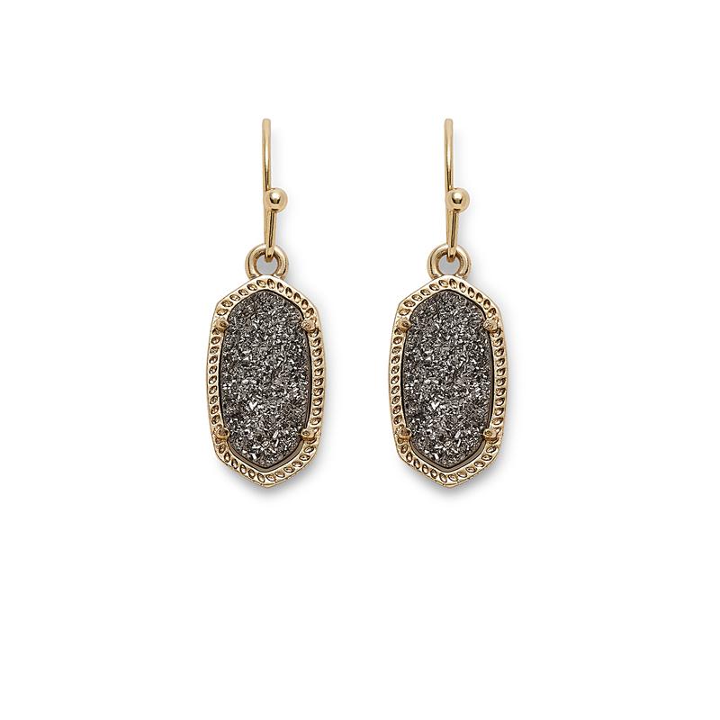 Kendra Scott Lee Earrings in Platinum Drusy