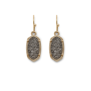 Kendra Scott Lee Earrings in Platinum Drusy