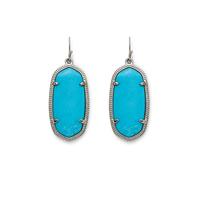 Kendra Scott Elle Silver Earrings in Turquoise