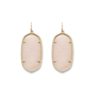 Kendra Scott Danielle Earrings in Rose Quartz