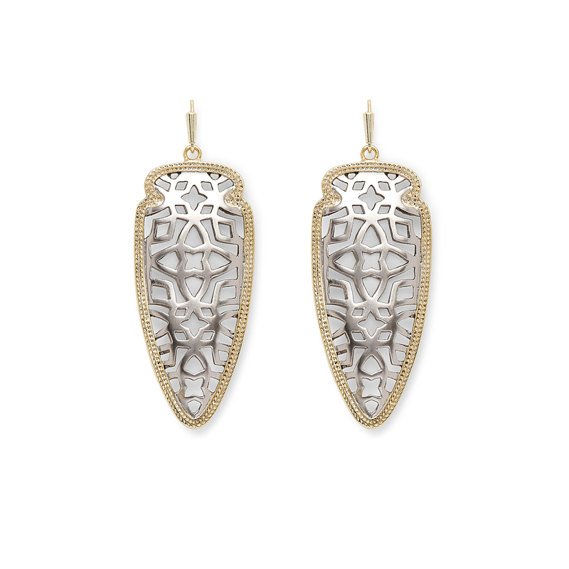 Kendra Scott Sadie Spear Earrings in Gold and Silver