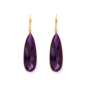 Olivia & Grace Lorena Earrings in Purple Chalcedony