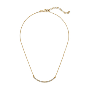 Sophie Harper Pavé Curve Bar Necklace