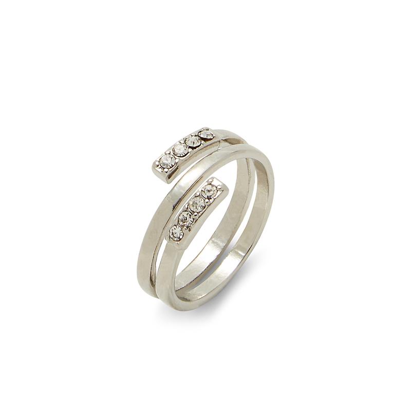 Sophie Harper Pavé Spiral Ring in Silver