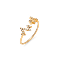 Wanderlust + Co Heartbeat Crystal Gold Ring