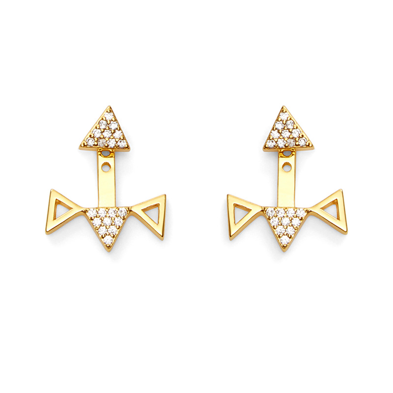 Gorjana Mika Shimmer Reversible Ear Jacket Stud Set