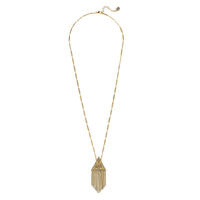 House of Harlow 1960 Golden Hour Fringe Pendant Necklace in Gold