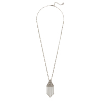 House of Harlow 1960 Golden Hour Fringe Pendant Necklace in Silver