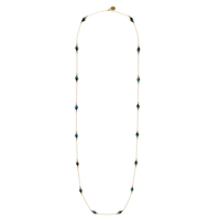 House of Harlow 1960 Flip Side Wrap Necklace in Turquoise