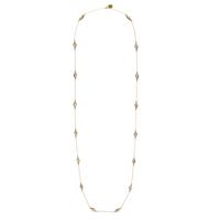 House of Harlow 1960 Flip Side Wrap Necklace in Rose Quartz