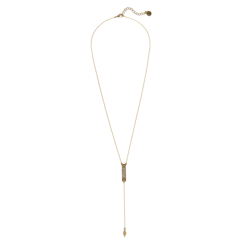 House of Harlow 1960 Dakota Drop Y Necklace in Gold