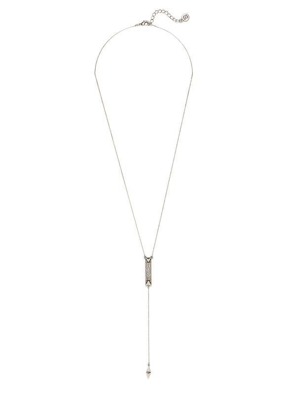 House of Harlow 1960 Dakota Drop Y Necklace in Silver