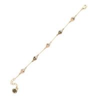 House of Harlow 1960 Flip Side Chain Bracelet in Rose Quartz