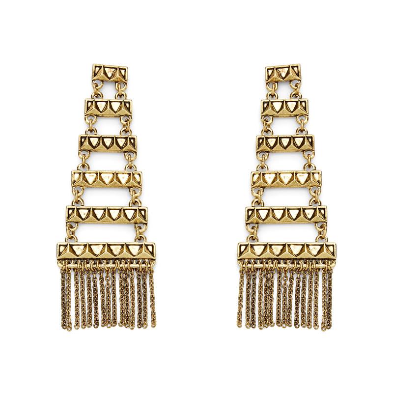 House of Harlow 1960 Peak to Peak Fringe Earrings