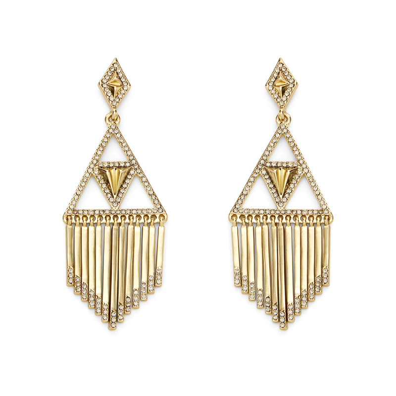 House of Harlow 1960 Golden Hour Fringe Earrings