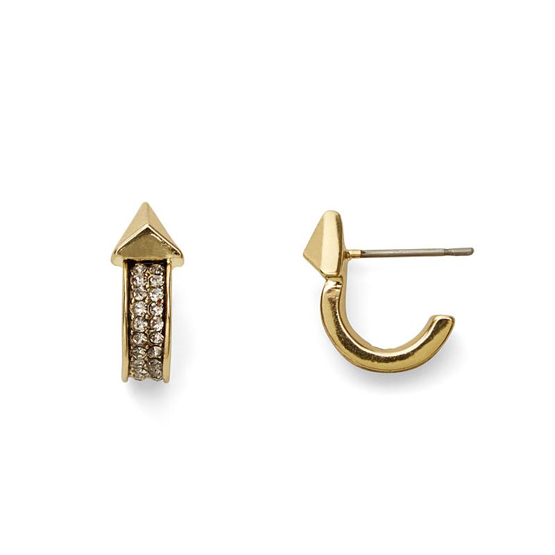 House of Harlow 1960 Dakota Huggie Hoop Earrings in Gold