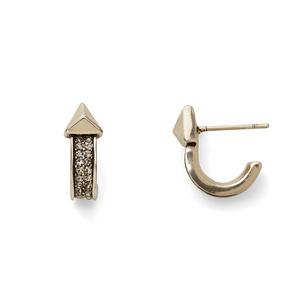 House of Harlow 1960 Dakota Huggie Hoop Earrings in Silver