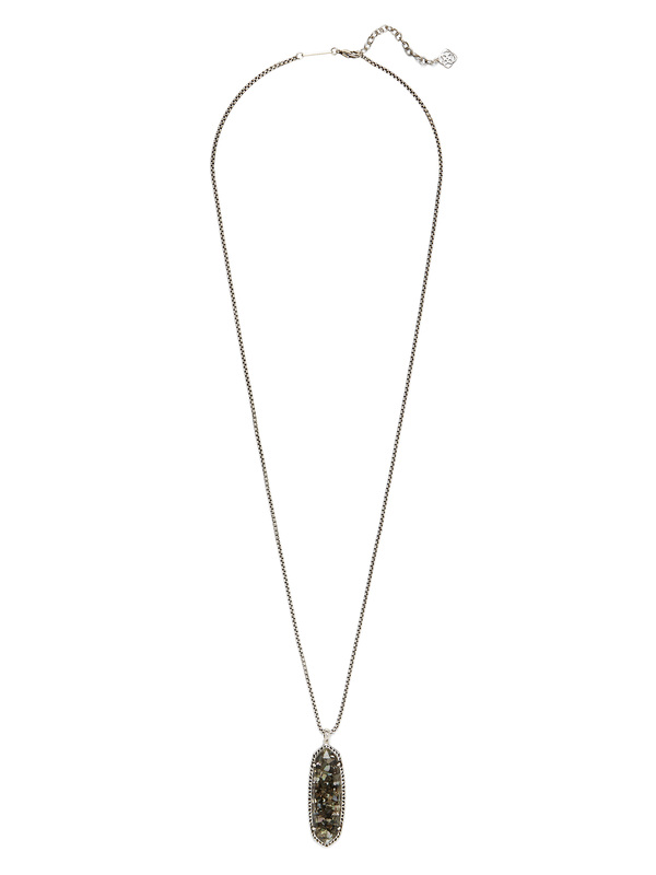 Kendra Scott Layden Necklace in Crushed Black Mother of Pearl