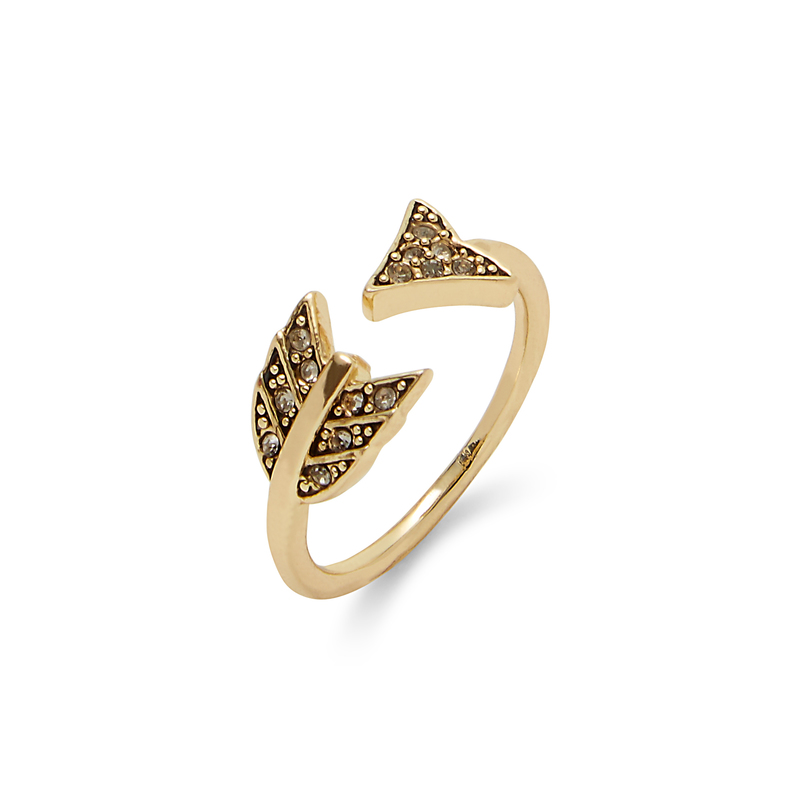 House of Harlow 1960 Arrow Affair Ring in Gold