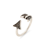 House of Harlow 1960 Arrow Affair Ring in Silver