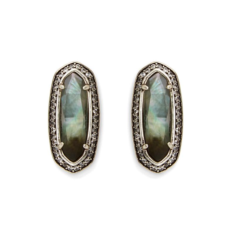 Kendra Scott Aston Earrings in Black Pearl