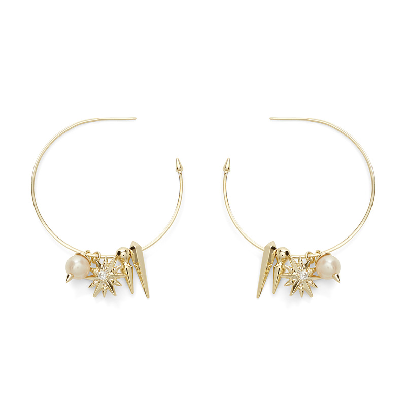 Kendra Scott Cindy Hoop Earrings in Baroque Pearl