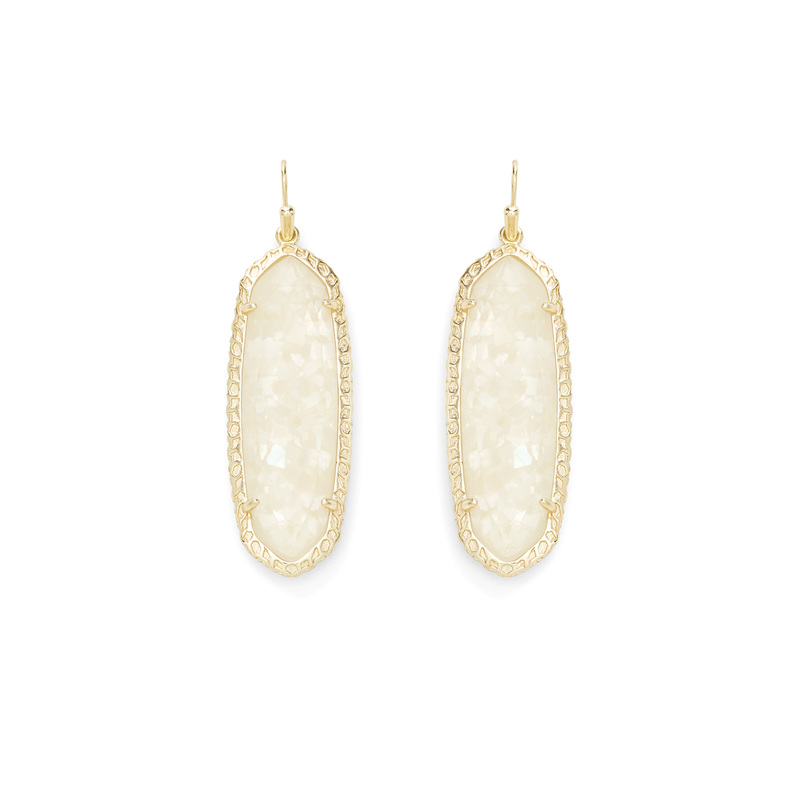 Kendra Scott Lauren Earrings in Crushed Ivory Pearl