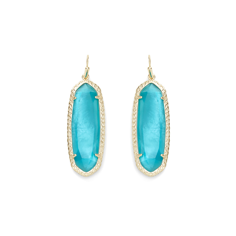 Kendra Scott Lauren Earrings in London Blue Illusion