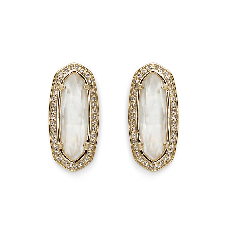 Kendra Scott Aston Earrings in Ivory Pearl