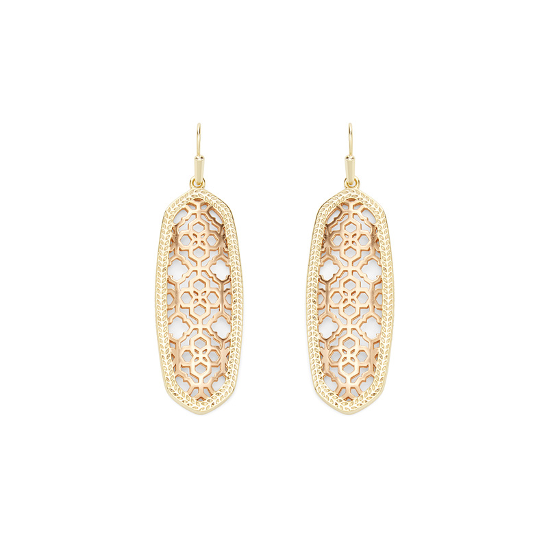 Kendra Scott Brenden Earrings in Gold and Rose Gold