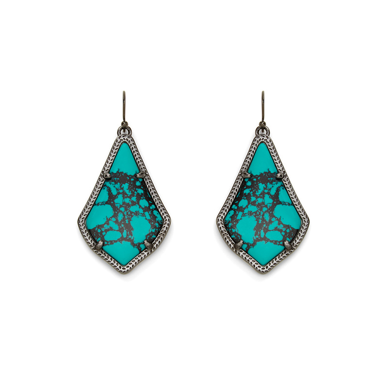 Kendra Scott Alex Earrings in Teal Magnesite