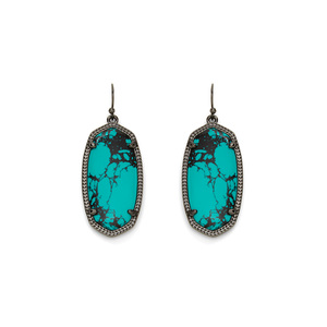 Kendra Scott Elle Earrings in Teal Magnesite