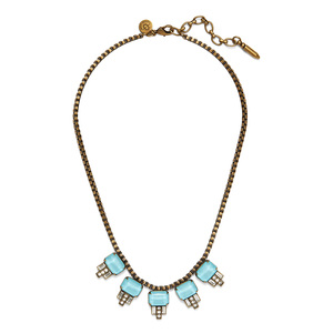 Loren Hope Alex Petite Necklace in Bay Blue