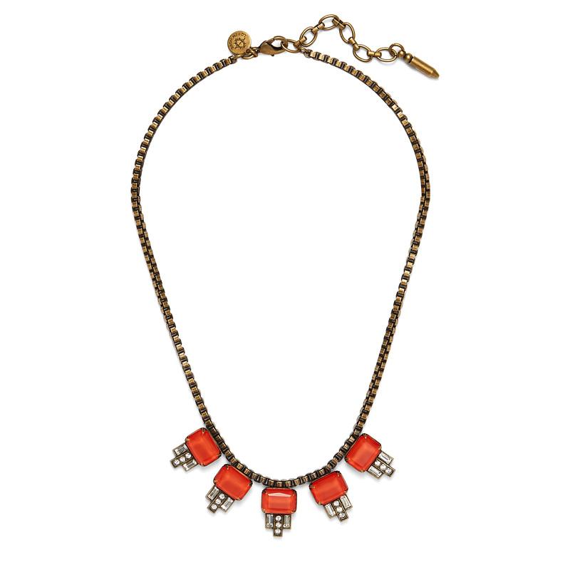 Loren Hope Alex Petite Necklace in Paradise Red