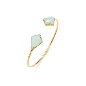 Olivia & Grace Kite Shape Stone Bracelet in Aqua Chalcedony