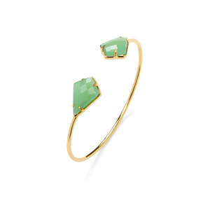 Olivia & Grace Kite Shape Stone Bracelet in Chrysoprase