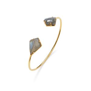 Olivia & Grace Kite Shape Stone Bracelet in Labradorite