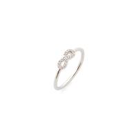 Sophie Harper Pavé Infinity Ring in Silver