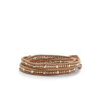 Nakamol Silver & Tan Wrap Bracelet