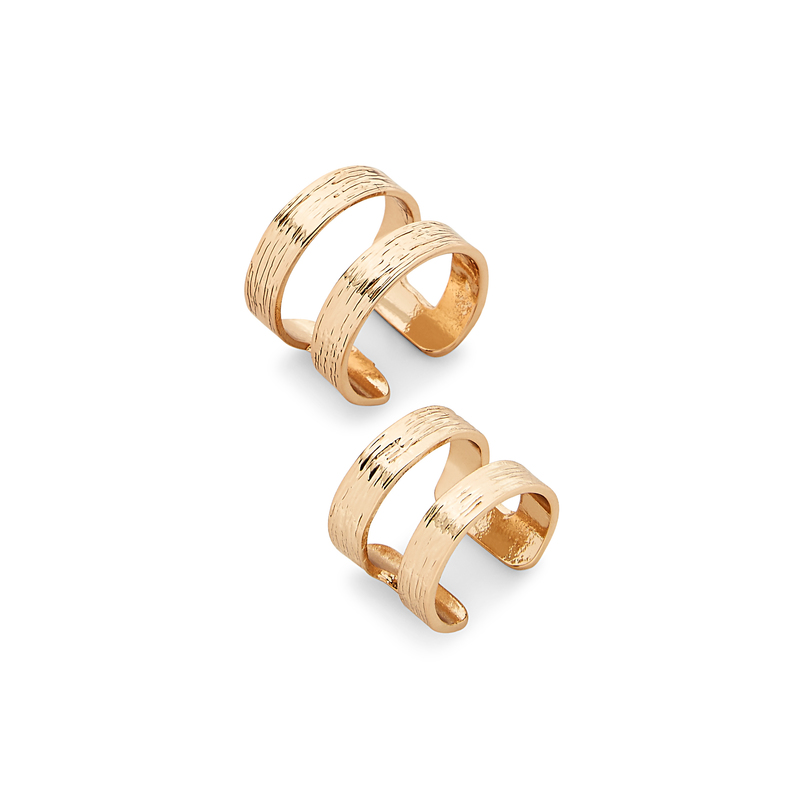 SLATE Double Bar Ring Set