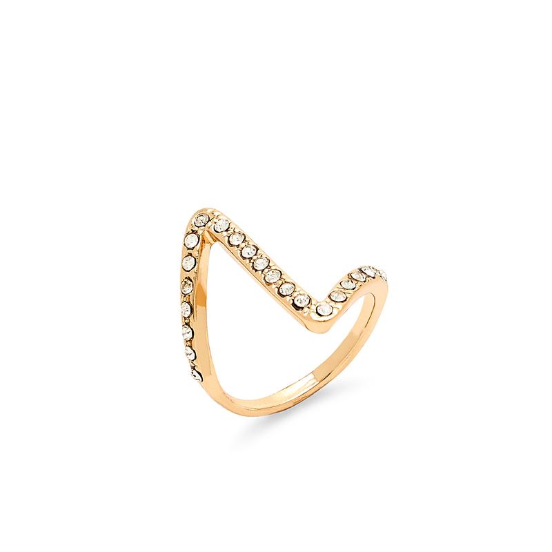 Sophie Harper Pavé Z Ring in Gold