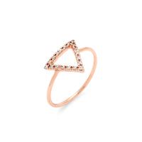 Wanderlust + Co Frame-Tri Crystal Rose Gold Ring