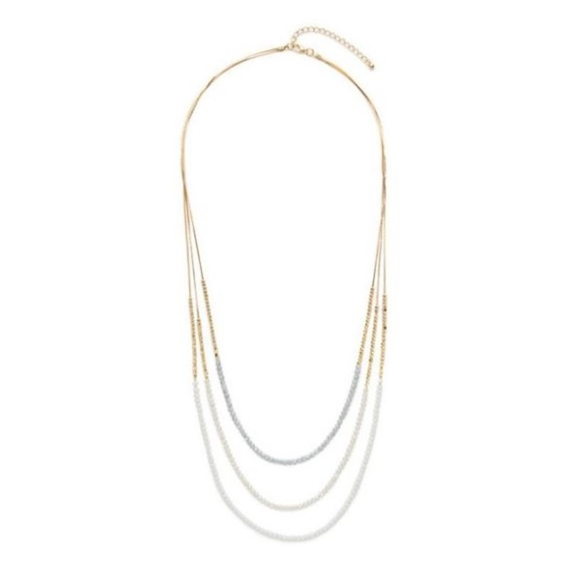 Moon & Lola Stella Maris Necklace in White