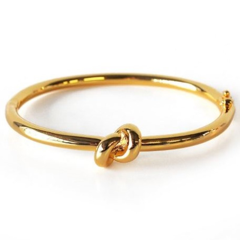 Wanderlust + Co Knot Bangle in Gold