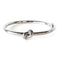 Wanderlust + Co Knot Bangle in Silver