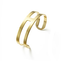 a.v. max Double Bar Cuff in Gold